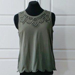 REITMANS Army green sleeveless camisole